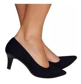 83f826a87 Scarpin Feminino Camurça Beira Rio Kallan - Sapatos com o Melhores ...