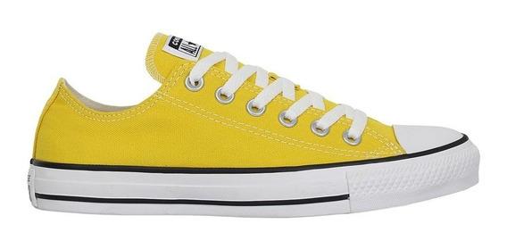 Tênis Converse Chuck Taylor All Star Amarelo Vivo Preto Bran
