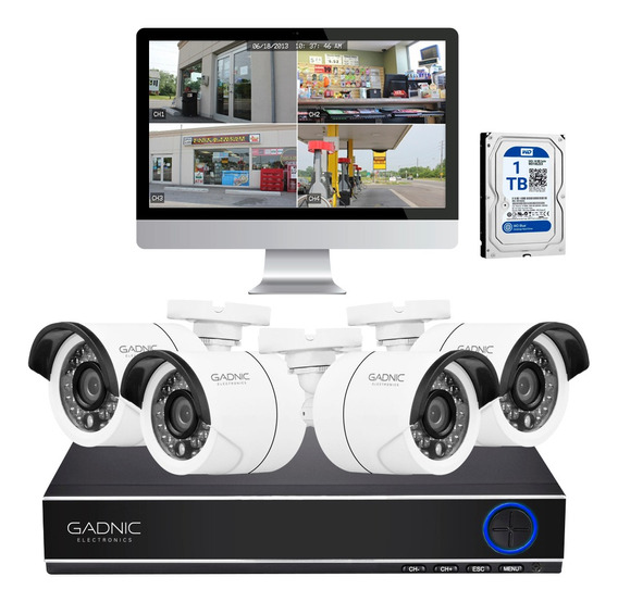 Kit 4 Camaras Seguridad Ip Hd Cctv Dvr Hdmi Infrarrojas +1tb