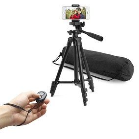 Tripé Para Camera E Celular 3120 Altura Máxima 101cm