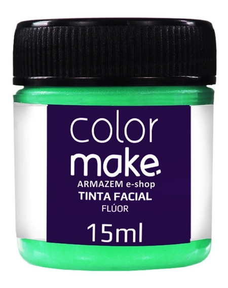 Tinta Líquida Fluorescente Para Rosto Verde Armazem E-shop