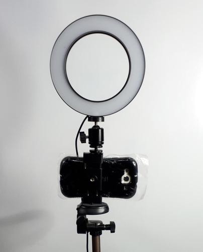 Imagen 1 de 3 de Aro De Luz + Tripode Para Camara O Celular 50 PuLG
