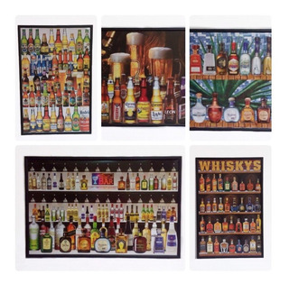 Poster Bebidas Cuadro Marco Madera 56 X 86 Cm Tequila Whisky