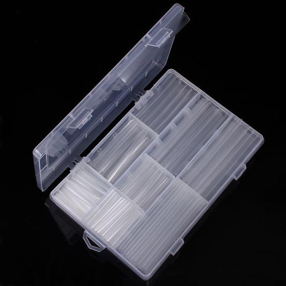 Espaguete Tubo Termo Retrátil 385 Peças Transparente + Caixa