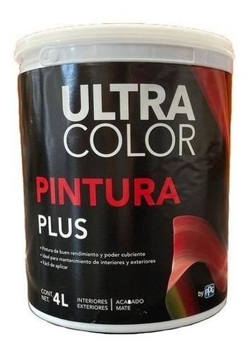 Imagen 1 de 2 de Galon De Pintura Vinilica Lavable Ultracolor Plus 4lt