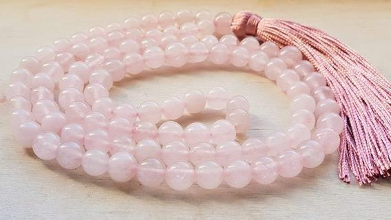 Japamala 108 Contas Quartzo Rosa Proteção Amor