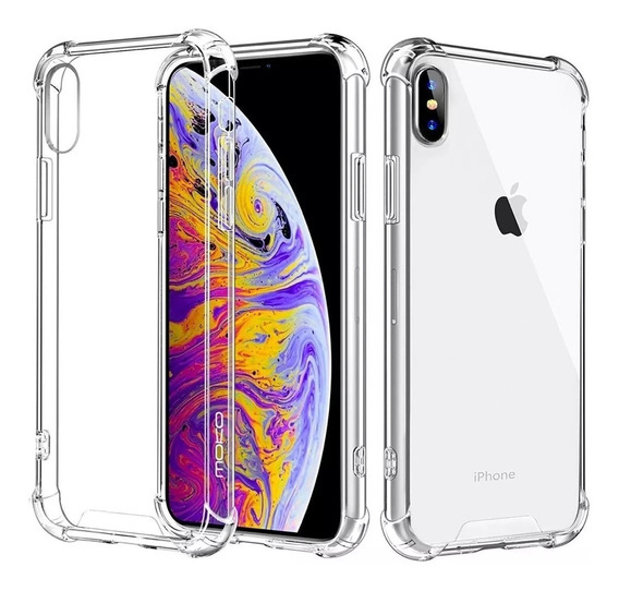 Funda Antishock Gel Transparente Cristal Protector Apple iPhone Xsmax/xr/xs/x/8 Plus/7 Plus/8/7/6/6s/6 Plus/6s Plus/5/se