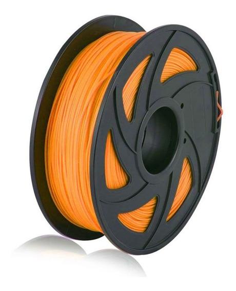 Filamento Pla P/ Impressão 3d 1,75mm 1kg Cor Laranja Claro