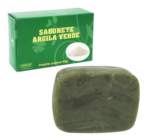 Imagem 1 de 1 de 3  Sabonetes De Argila Verde - 90 Gramas