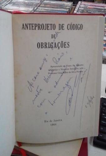 Anteprojeto De Código De Obrigações - Autografado