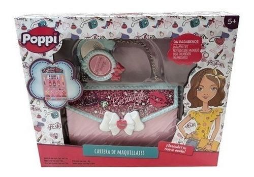 Set De Maquillaje Poppi Para Niñas Cartera
