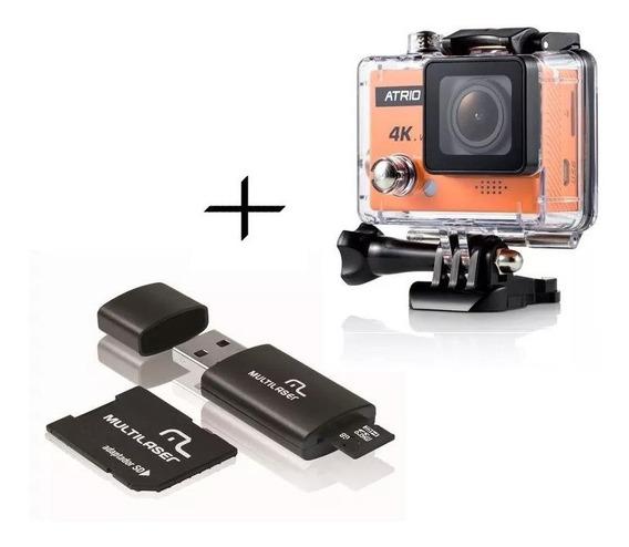 Camera De Ação 4k Atrio Wifi + Cartão 16gb Classe 10 Dc185