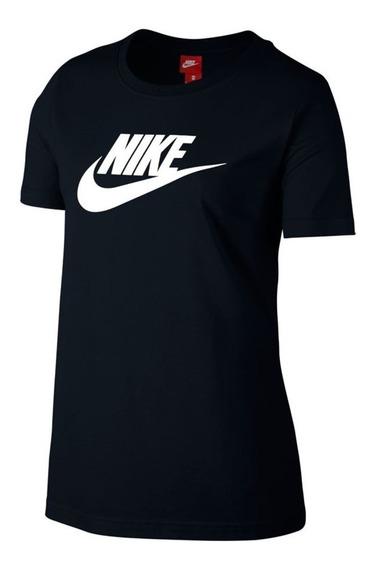 Remera Nike Logo Negro Mujer