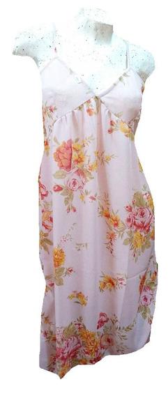 Vestido Solero Hindu De Gasa Rosa Diseño Flores