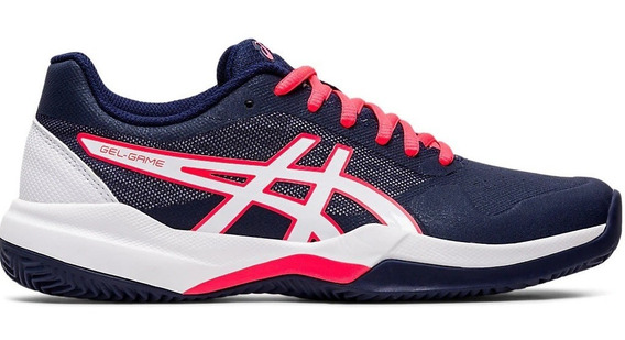 Asics Zapatillas Tenis Mujer Gel Game 7 Azul - Rosa