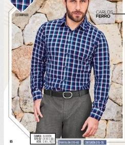 Camisa Manga Larga Cuadros P/caballero Cklass 976-02 Pv-19