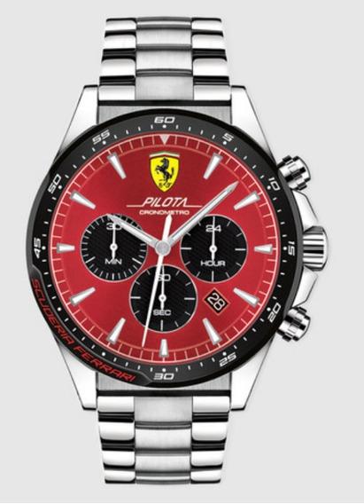 Relógio Scuderia Ferrari Pilota 47mm Modelo 0830619 Novo!