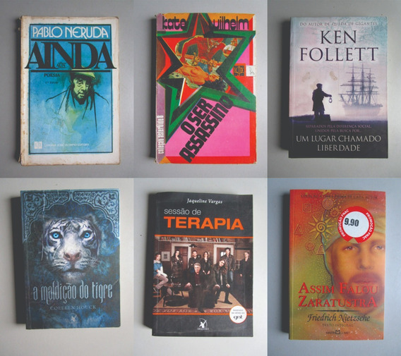 6 Livros - Literatura Estrangeira - Vários Autores - Lote 2