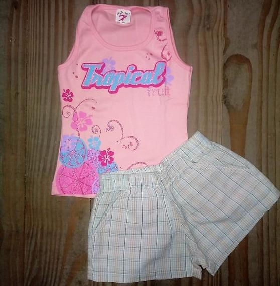 8 Peças Infantis Shorts Blusas Roupa Menina Liquida Estoque