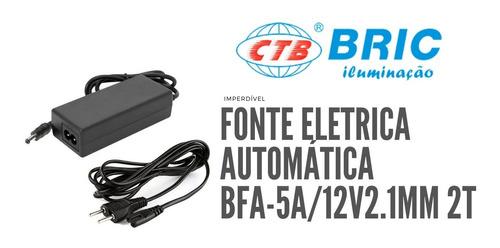 Fonte Eletronica 12v 5a 110v/220v Automática Para Fita Led
