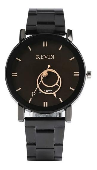 Oferta Relógio Feminino Masculino Kevin Barato Aço Luxo