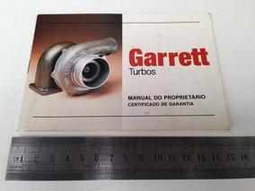 Manual Do Proprietário E Garantia De Turbinas Garret Antigo