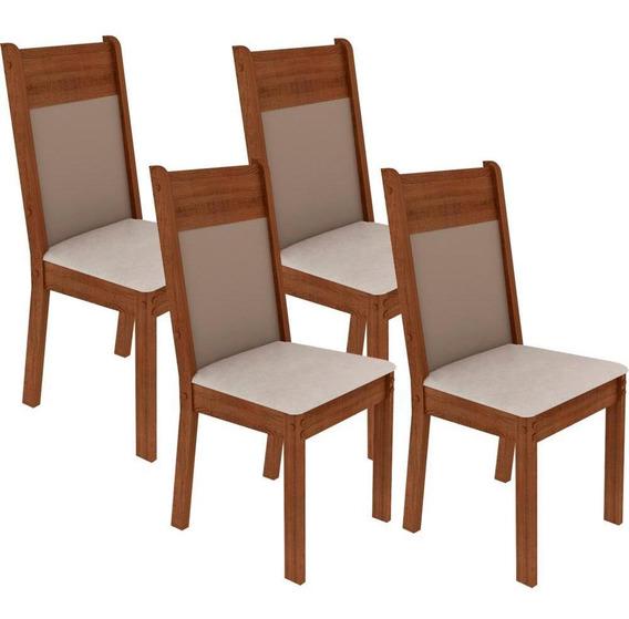 Conjunto 4 Cadeiras Em Mdf Pintura Poliéster - Madesa 4280