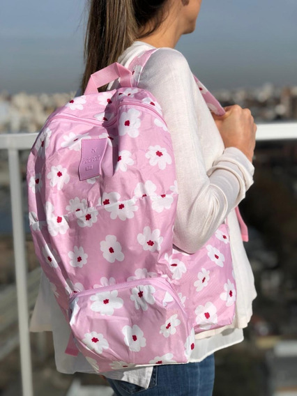Mochila Plegable Miami Estampada Travel Tech 10166