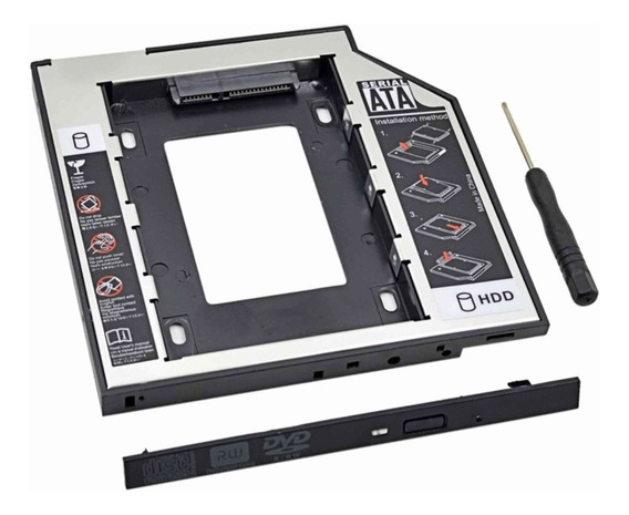 Adaptador Dvd Hd Ou Ssd Notebook Drive Caddy 9.5mm Sata Slim