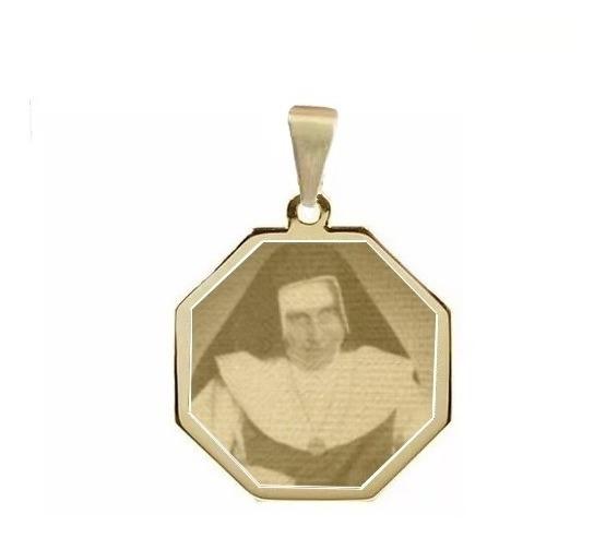 Pingente Folheado A Ouro Santa Irmã Dulce Saf08