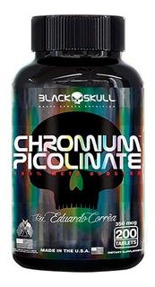 Picolinato Chromium Picolinate - 200 Tabletes - Black Skull