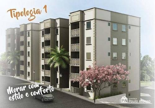 Apartamento Com 2 Dormitórios À Venda, 47 M² Por R$ 170.962,50 - Jardim Das Azaléias - Poços De Caldas/mg - Ap0197