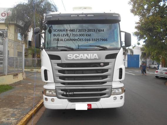 Scania R440 2013 6x4 Automática Completa Super Novo