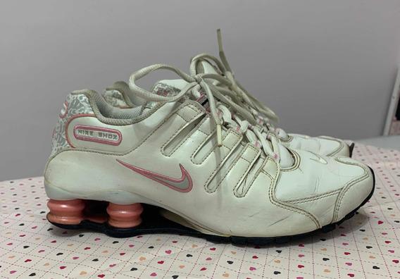 Tênis Nike Shox Nz Feminino Branco E Rosa