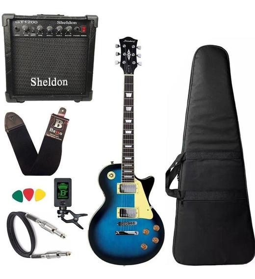 Guitarra Les Paul Strinberg Lps230 Azul Bl C/ Amplificador
