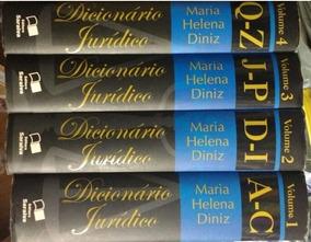 Dicionário Jurídico Maria Helena Diniz Vol. 1 / 2 / 3 / 4