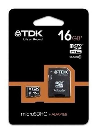 Cartão De Memória Micro Sd 16gb Tdk Classe 4