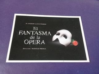 El Fantasma De La Opera Tarjeta Postal Argentina
