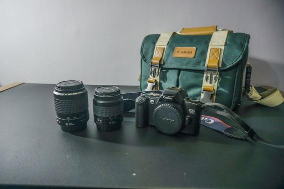 Canon Eos 500 - Analógica - Kit Completo Duas Lentes E Bolsa