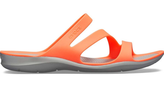 Sandalia Crocs Dama Swiftwater Sandal W Coral/gris