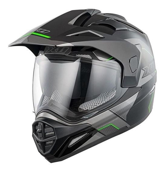 Capacete para moto cross X11 Crossover X3 neon M