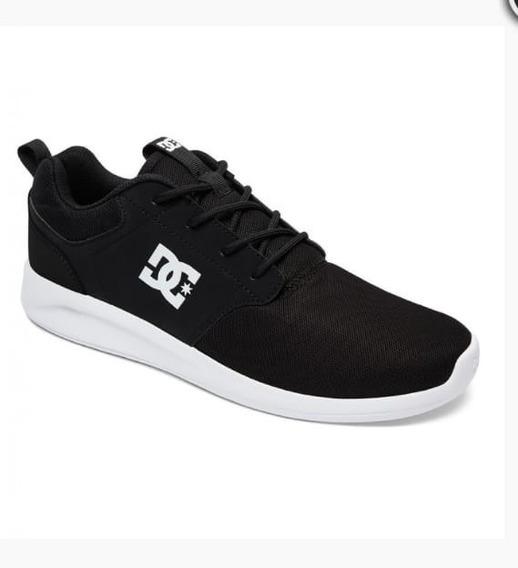 Zapatilla Dc Shoes Midway Negra, Original