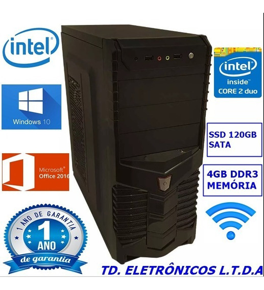 Cpu Completa Core2duo /4gb Ddr3 /ssd 120gb /wifi