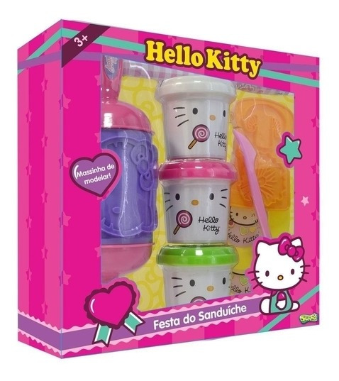 Kit Massinha Hello Kitty Festa Do Sanduiche 1113 Sunny