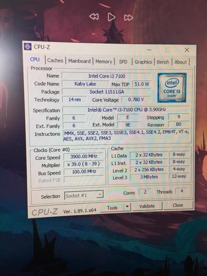 Pc Gamer Intel I3 7100 4gb Ddr4 Placa Mãe H110m 1151