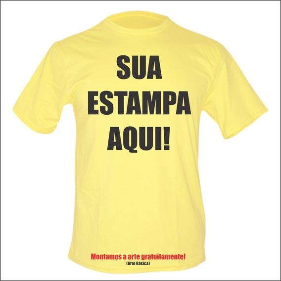 Kit 3 Camiseta Personalizada Amarela Com Sua Estampa