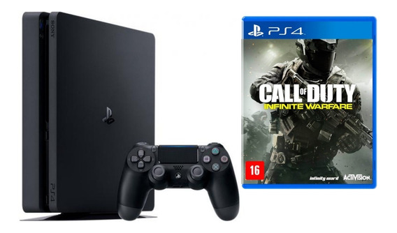 Playstation 4 Ps4 Slim 500g+ Controle + Call Of Duty Iw