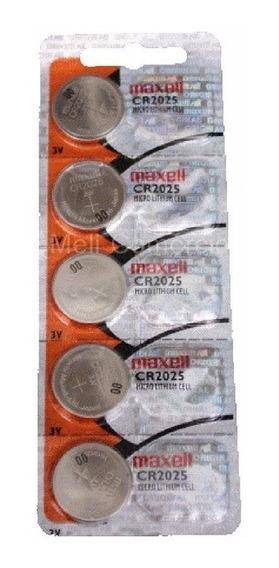 Pilha Maxell Cr 2025 3v Com 5 Unidades