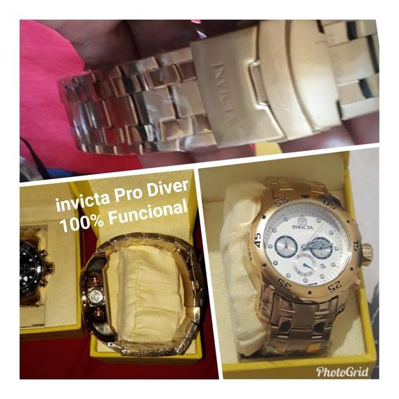 Relogio Invicta Pro Diver Dourado