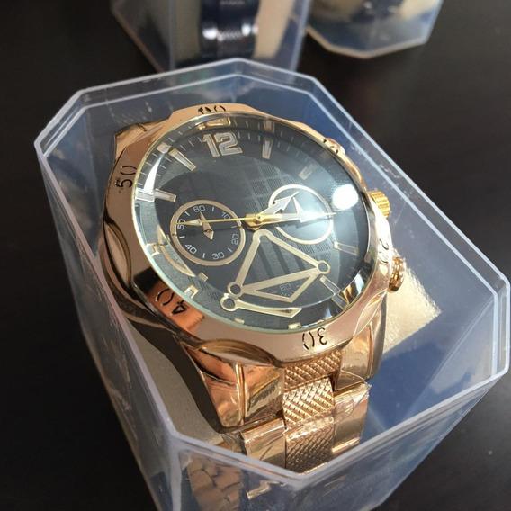 Relógio Masculino Dourado/prata Aço Imperdível
